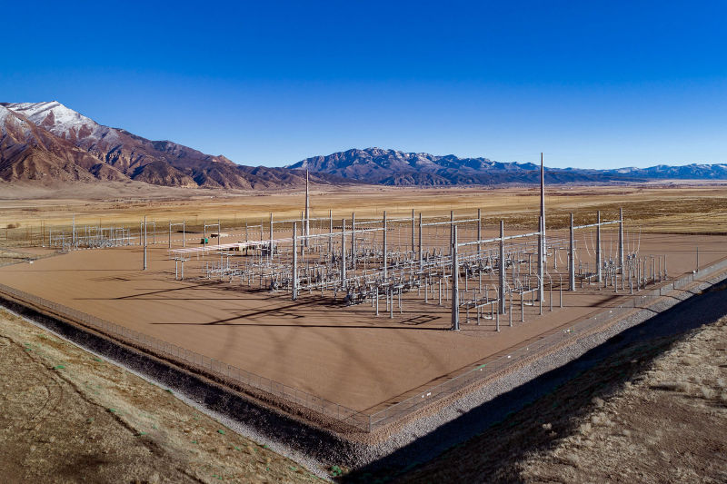 Electrical Substation - Mona, Utah. Aerial Photography by Alan Blakely.