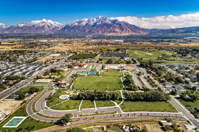 City Park - Midvale, Utah. Aerial Photography by Alan Blakely.