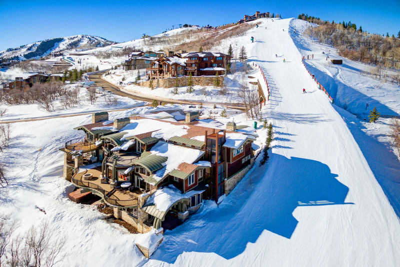 Private Ski Residences - Park City, Utah. Aerial Photography by Alan Blakely.