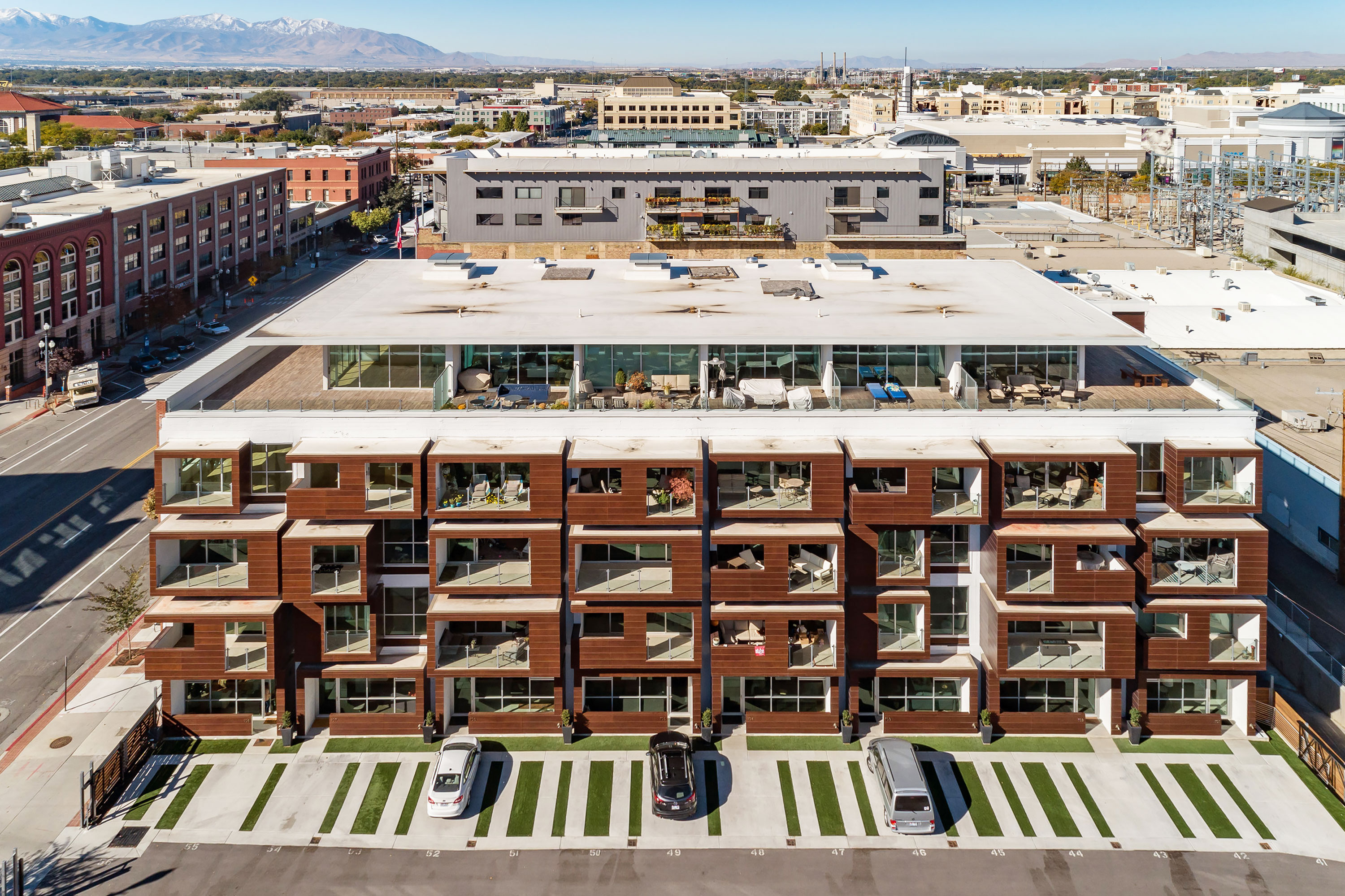 City Lofts - Salt Lake City, Utah. Aerial Photography by Alan Blakely.