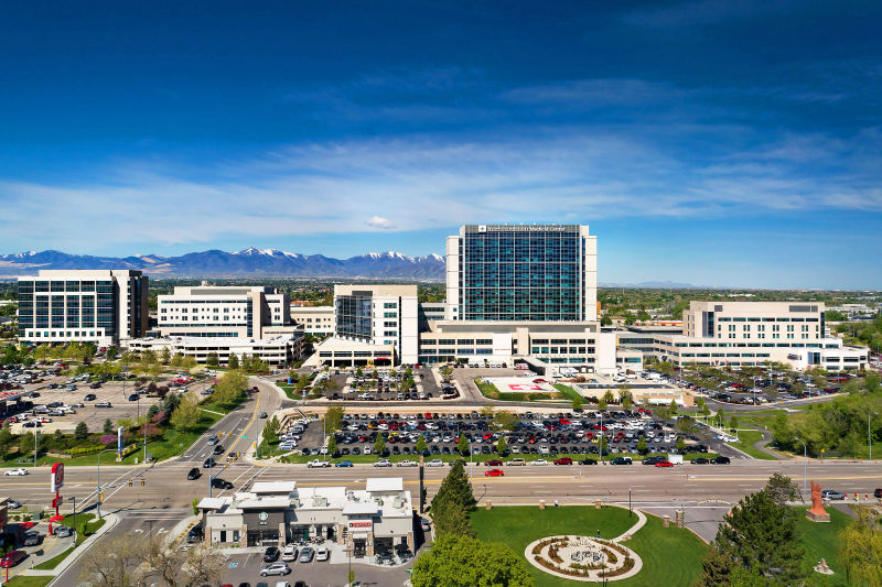 Intermountain Medical Center - Salt Lake City, Utah. Aerial Photography by Alan Blakely.