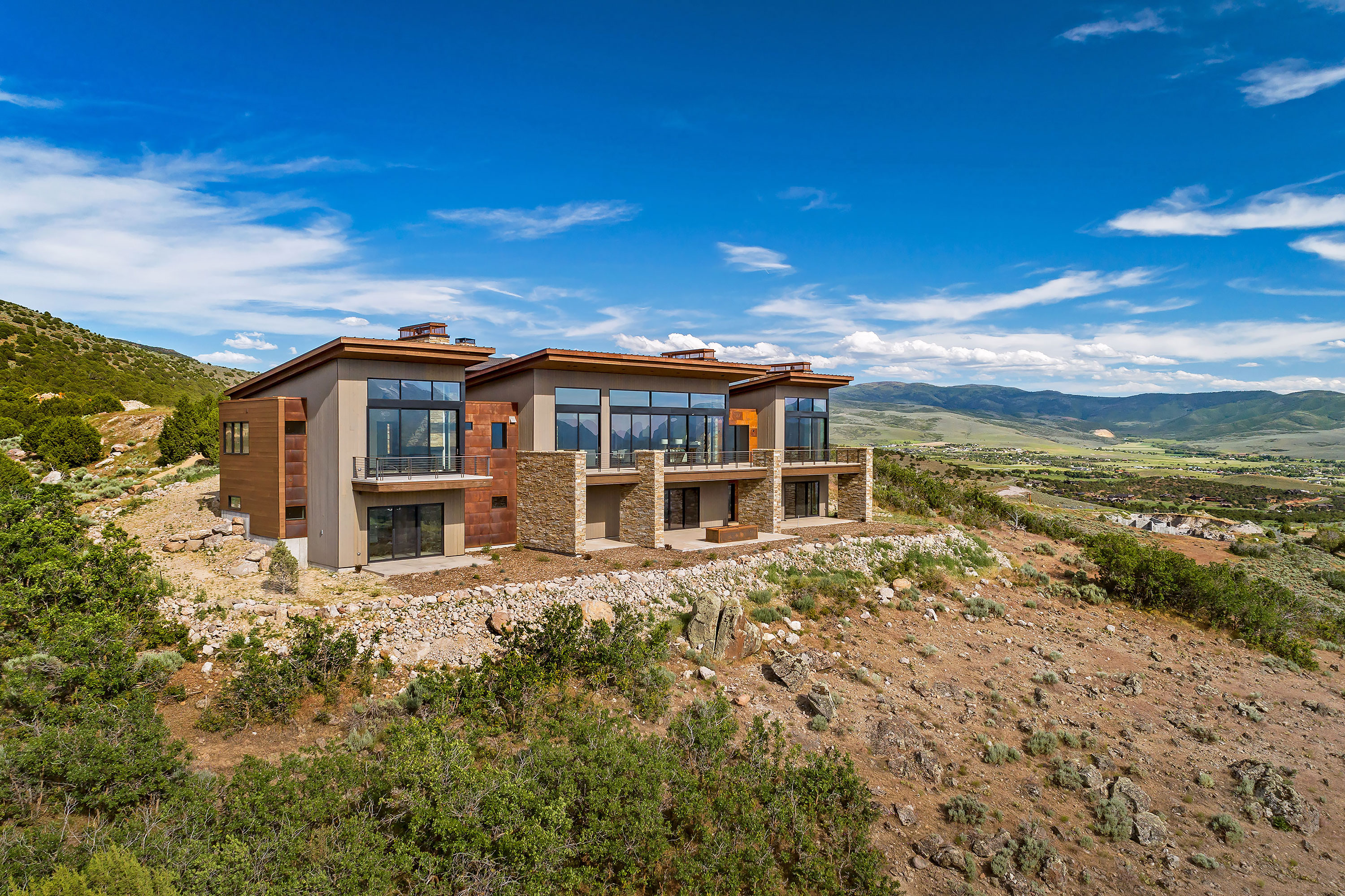 Private Residence - Heber City, Utah. Aerial Photography by Alan Blakely.