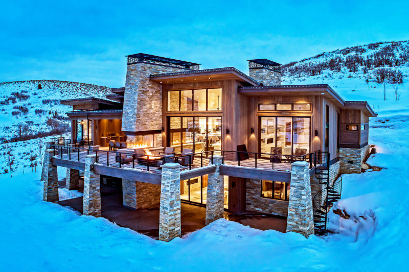 Mountain Residence - Kamas, Utah. Aerial Photography by Alan Blakely.