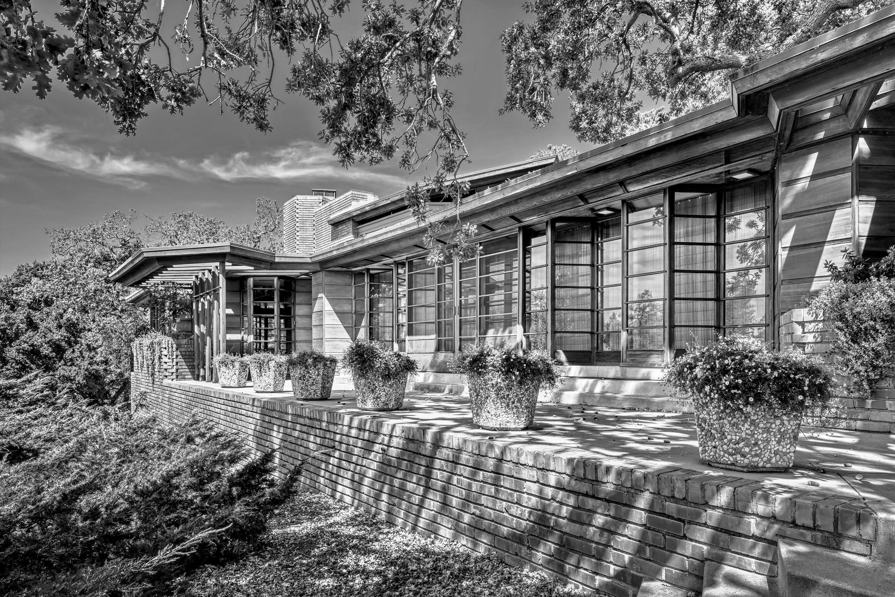 The Hanna House - Palo Alto, California. Architectural Photography by Alan Blakely.