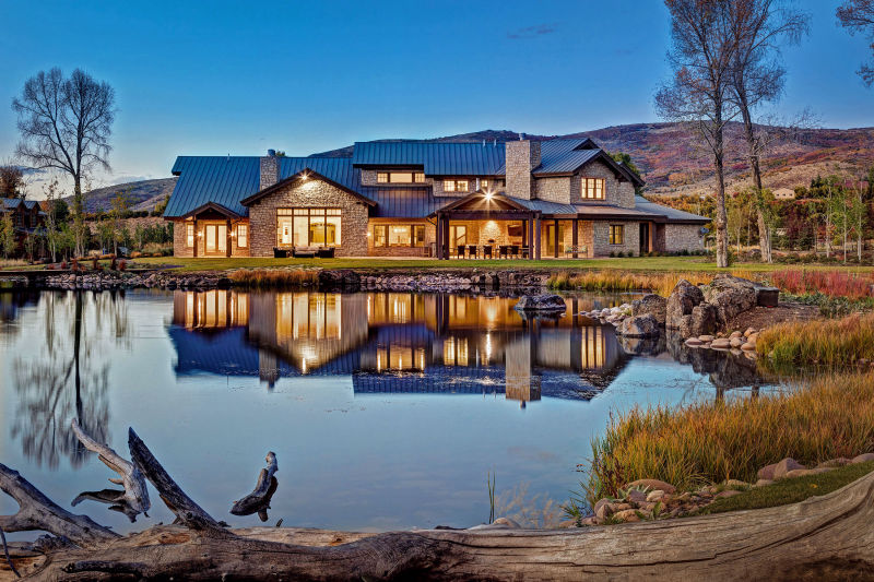 Mountain Estate Home - Woodland, Utah. Architectural Photography by Alan Blakely.