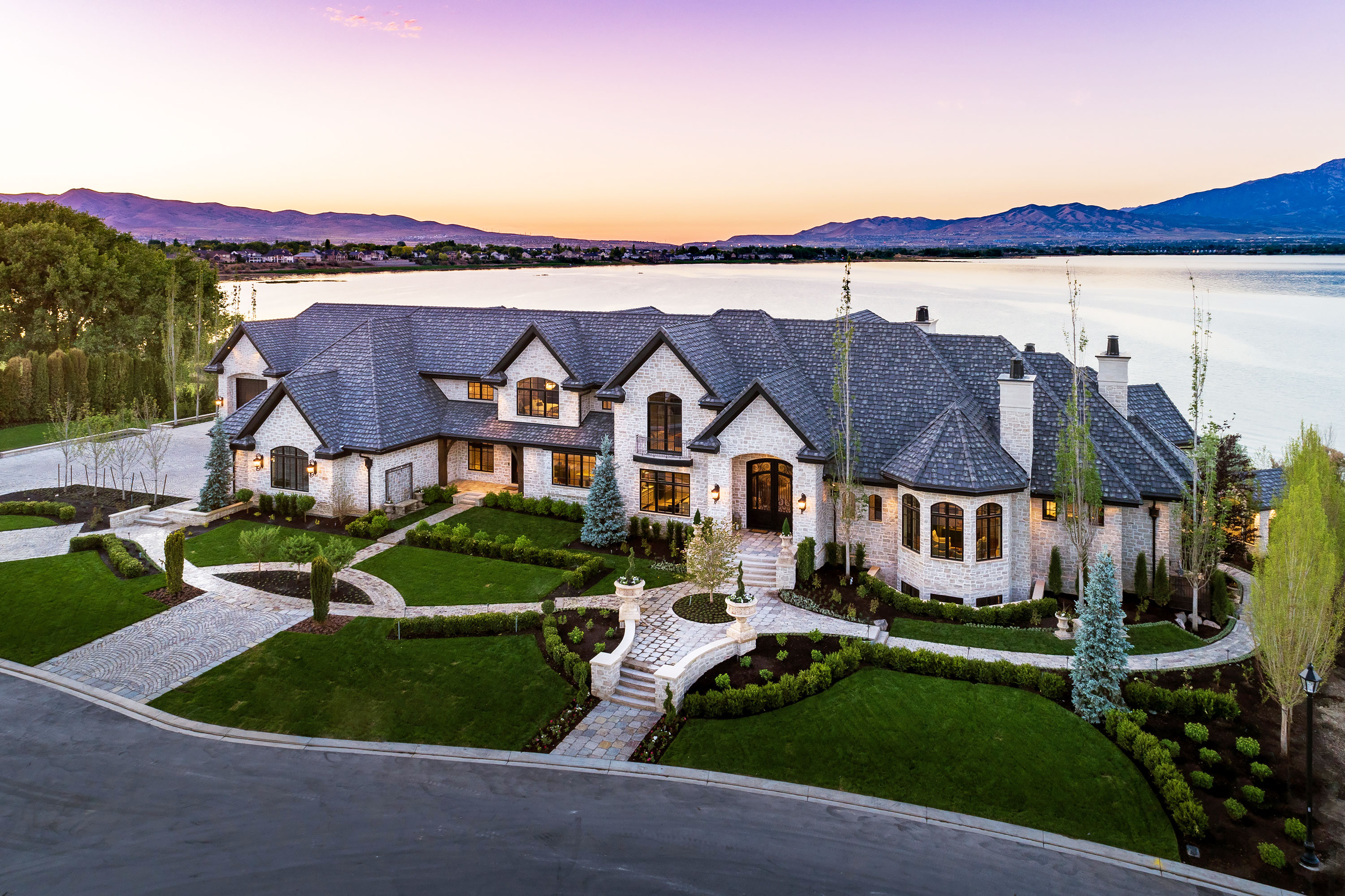 Lakeside Residence - Saratoga Springs, Utah. Aerial Photography by Alan Blakely.