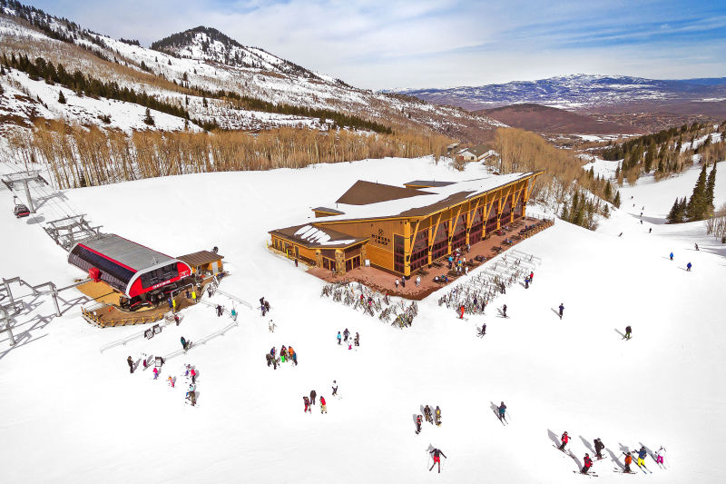 Park City Resort - Park City, Utah. Aerial Photography by Alan Blakely.